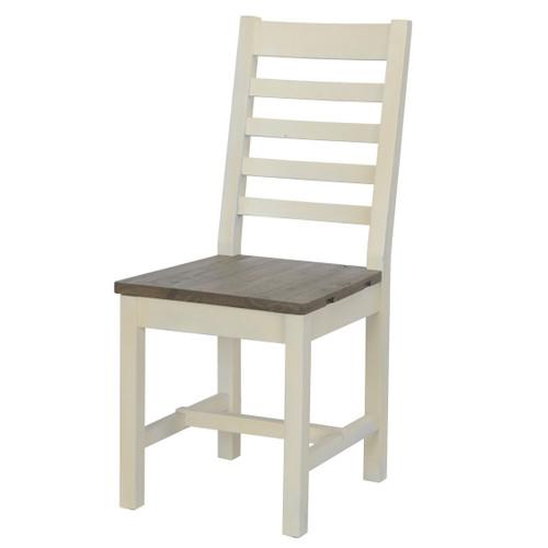 Coastal Farmhouse Reclaimed Wood Dining Chair