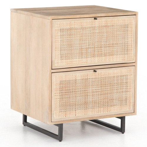 Audrey Woven Cane 2 Drawers Filing Cabinet