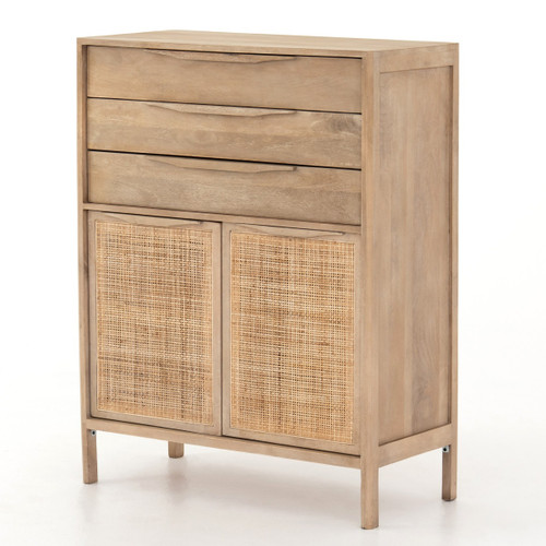 Sydney Woven Cane Tall Chest Of Drawers