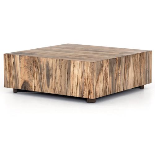 "Inkas Spalted Primavera Wood Square Coffee Table 40"""