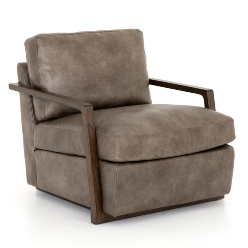 Judd Modern Slate Leather Club Chair