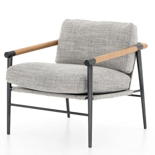 Rowen Grey Fabric Modern Accent Chair