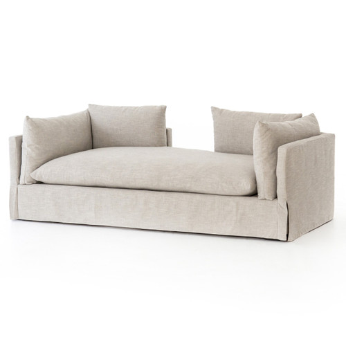 """Loft Modern Beige Chaise Daybed Lounger 88"""""""