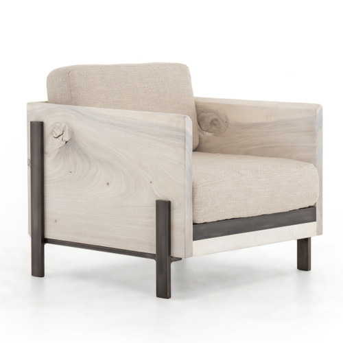 Woodrow Live Edge Wood Living Room Armchair