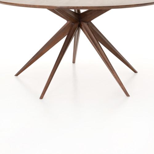 Hewitt Star Base Mid Century Modern Round Dining Table 59\