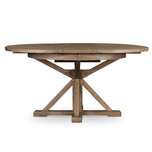 Cintra Reclaimed Wood Extending Round Kitchen Table 47\