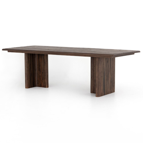 """Lineo Rustic Reclaimed Wood Dining Table 96"""""""