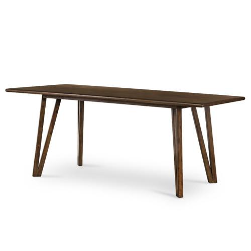 "Leah Brown Acacia Wood Dining Table 78"""