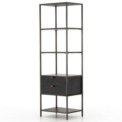 Fulton Trey Black Industrial Modular Bookshelf,UFUL-032A
