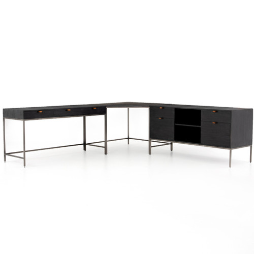 UFUL-039A,TREY DESK SYSTEM WITH FILING CREDENZA
