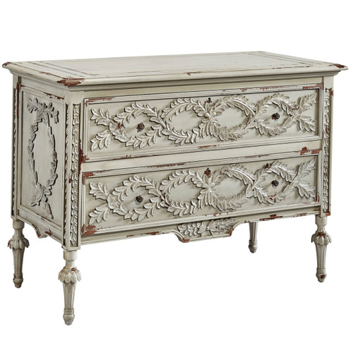 French Olive Branch Gray 2 Drawer Chest,2189A08