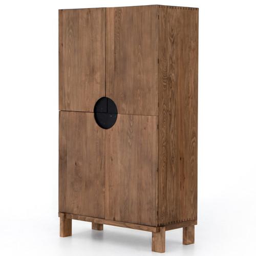 Monte Black Marble 4 Door Tall Storage Cabinet,UFUL-050