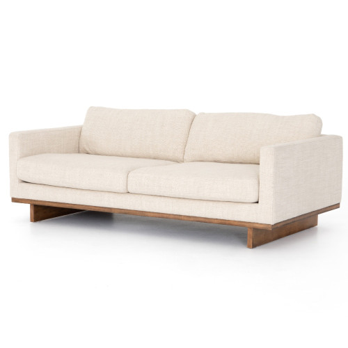 """Everly Taupe Upholstered Track Arm Modern Sofa 84"""",CKEN-297A6-663P"""