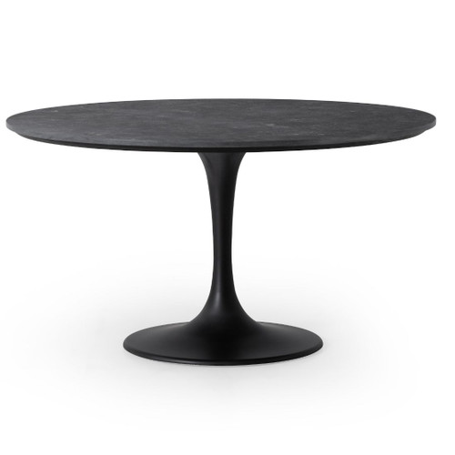 "Aero Tulip Bluestone Top Round Dining Table 55"""