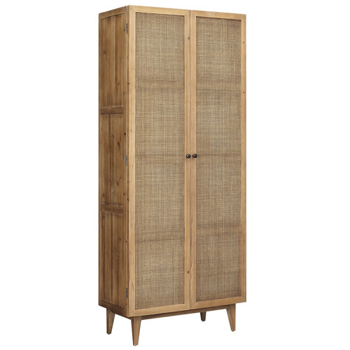 Dolores Woven Cane Door Cabinet