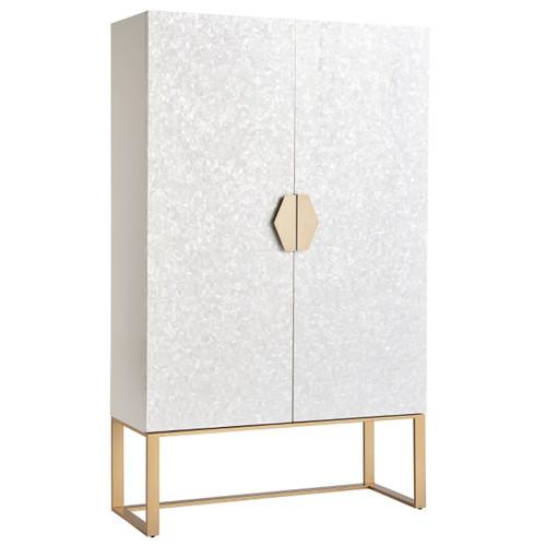 Opaline Mother of Pearl 2 Door Bar Cabinet