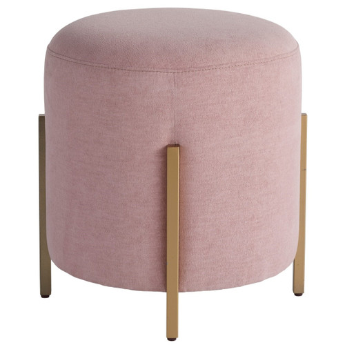 Love Joy Bliss Blush Fabric Poof, Ottoman