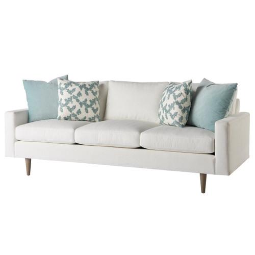 """Brentwood White Upholstered Sofa 86"""""""