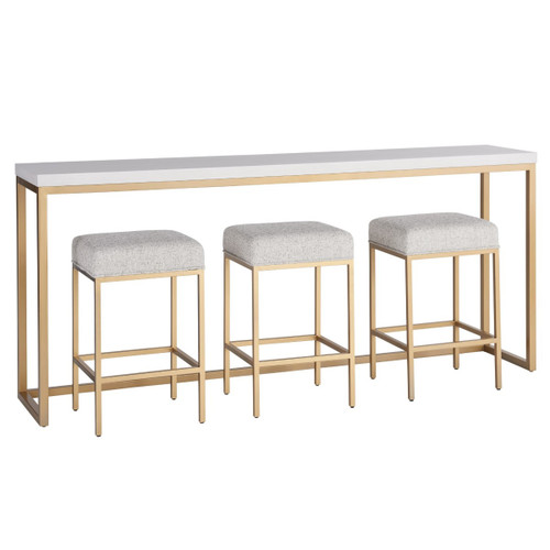 Love Joy Bliss Console Counter Table with 3 Stools