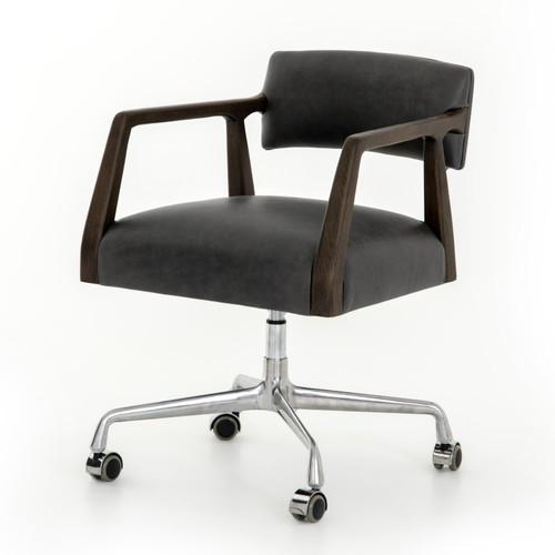 Tyler Chaps Ebony Leather Office Desk Chair