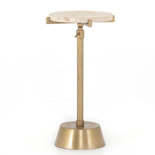 Raisa Terrazzo Antique Brass Accent Table