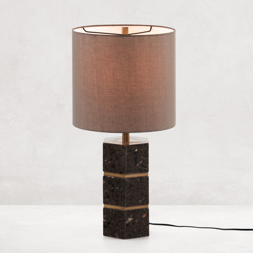 Amelie Antique Brass Table Lamp