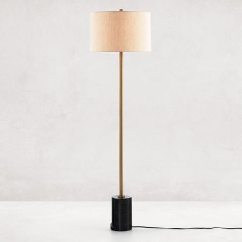 Sargent Black Marble Floor Lamp