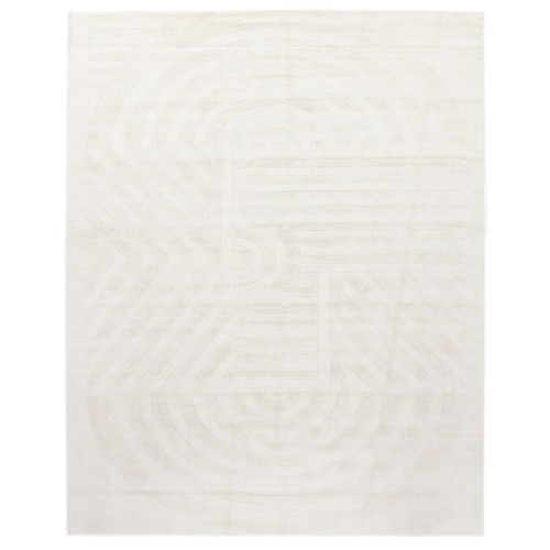 Oasis Hand-knotted Ivory/Taupe Area Rug