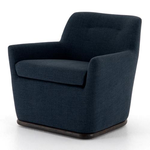 Alicia Retro Blue Swivel Chair