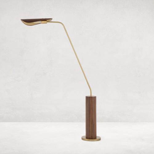 Astrid Dark Brown Leather Floor Lamp