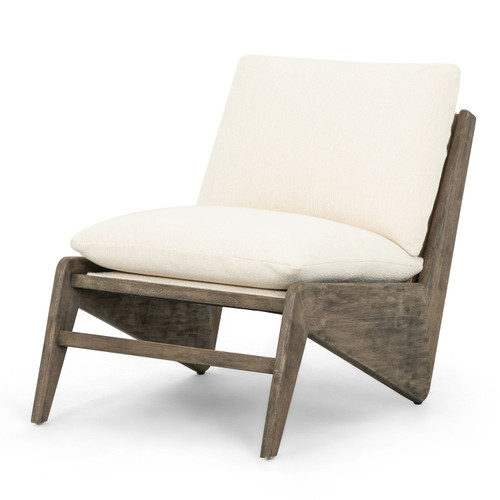Wesley Woven Cane Back Wooden Accent Chair