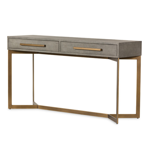 Shagreen Grey Console Table