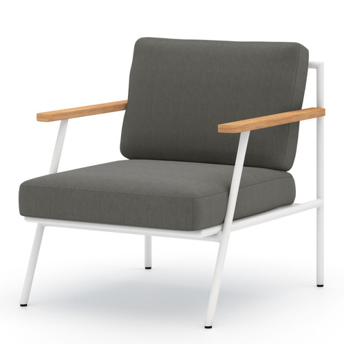 Aroba White Aluminum Finish Outdoor Chair