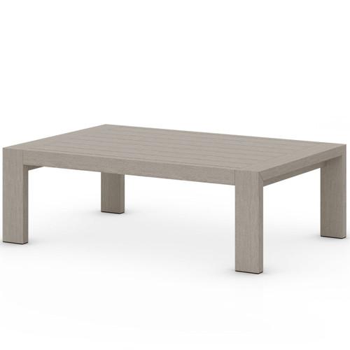 Caro Weathered Grey Outdoor Coffee Table