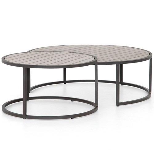Alda Weathered Grey Outdoor Nesting Table
