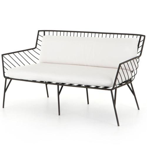 """Dali Sailcloth Salt Cushion Dark Bronze Finish Outdoor Sofa-58"""""""
