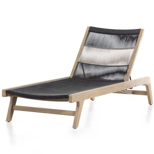 Julian Washed Brown Outdoor Chaise