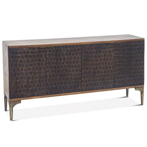 """Anna Modern Solid Wood 4 Door Sideboard 66"""""""