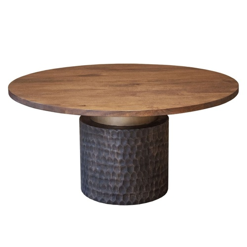 """Anna Modern Solid Wood Round Pedestal Dining Table 60"""""""