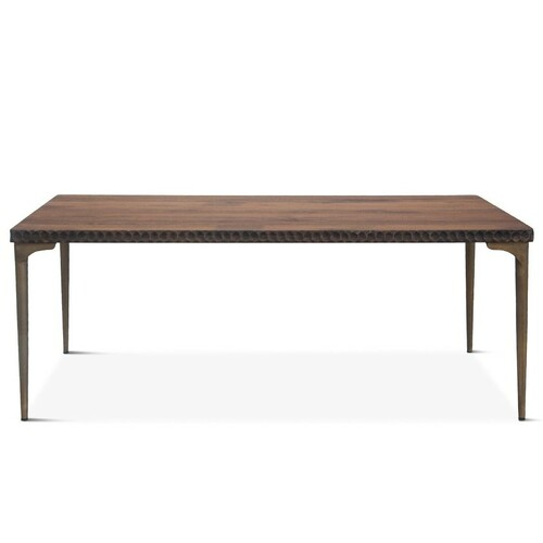 """Anna Modern Solid Wood Rectangle Dining Table 78"""""""
