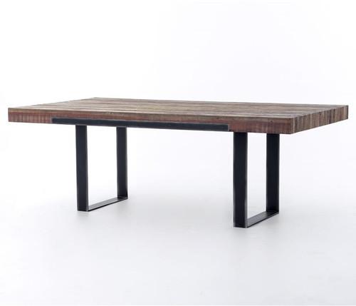 "Bina Graham Industrial Reclaimed Wood 84"" Dining Table"