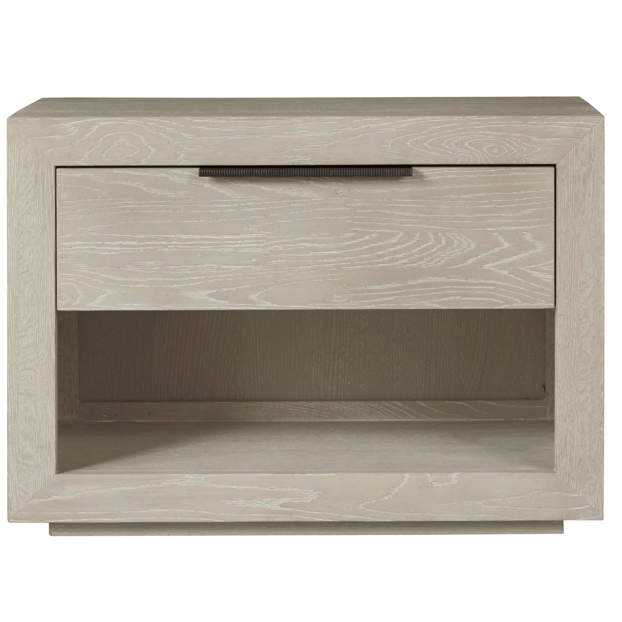Modern Grey Oak Huston 1 Drawer Nightstand Zin Home