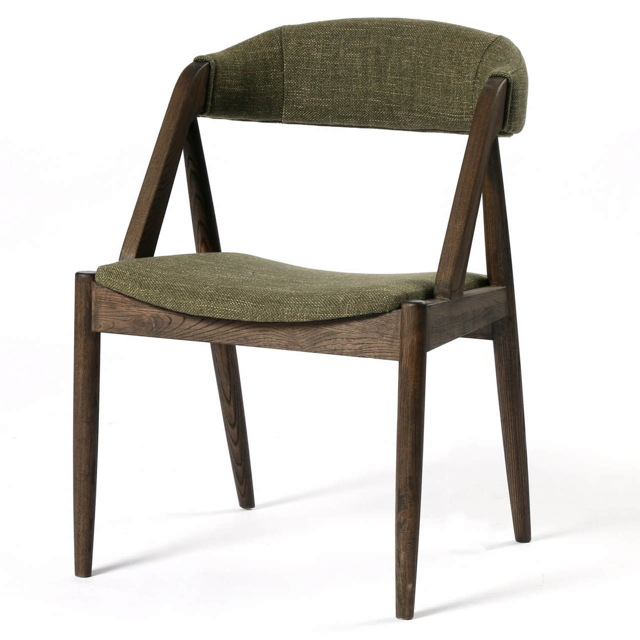 Holton Mid Century Modern Green Dining Chair Zin Home