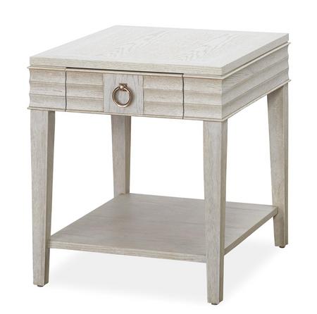 California Rustic White Oak 1 Drawer End Table Zin Home