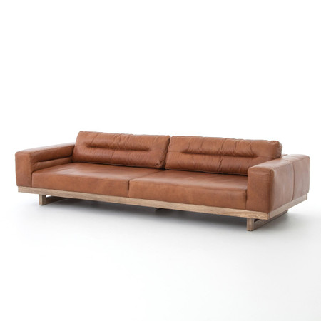 Froster Contemporary Leather Low Back Sofa | Zin Home