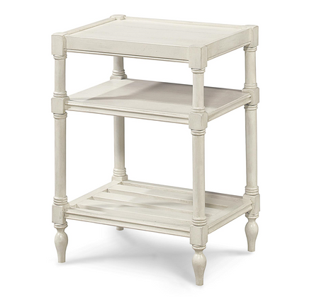 Country Chic Maple Wood White Side Table With Shelf Zin Home