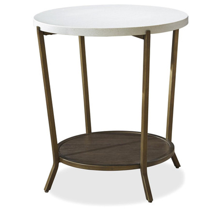 Playlist Stone Top Round End Table Zin Home