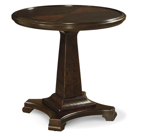 Proximity Cherry Wood Round End Table Zin Home