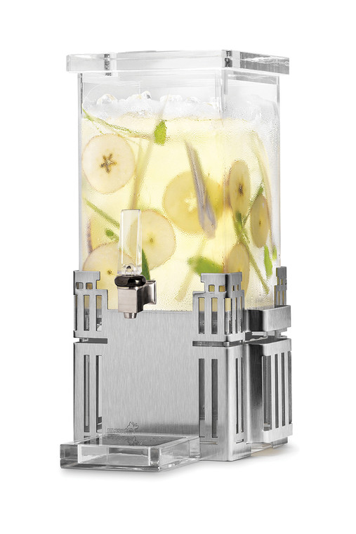 Square 1 Gal. Beverage Dispenser with Stainless Steel Base, 1 EA (DRIP TRAY NOT INCLUDED)
