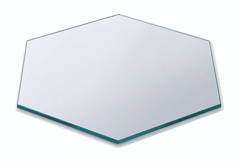 """Large HONEYCOMB™ Clear - Tempered Glass 19""""Dia - 1 each"""